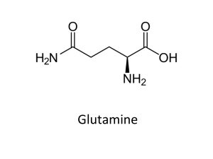 image of Glutamine Chemical Structure
