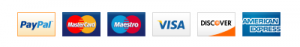 image of accepted credit and debit cards